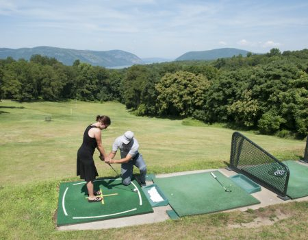 Practice range and instructors