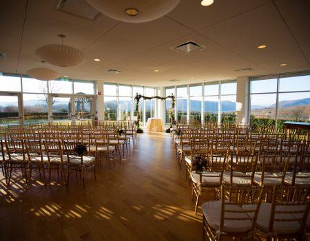 Ceremony setup for wedding